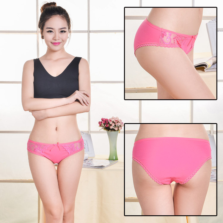 2015 stocklot cheap sexy cotton panty undergarments female sexy undergarment
