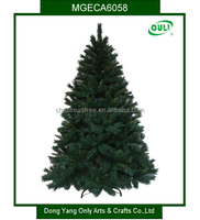 mixed pvc artificial christmas trees with metal stand