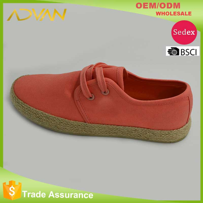 Simple Canvas Upper and Hemp Sole Espadrilles Women