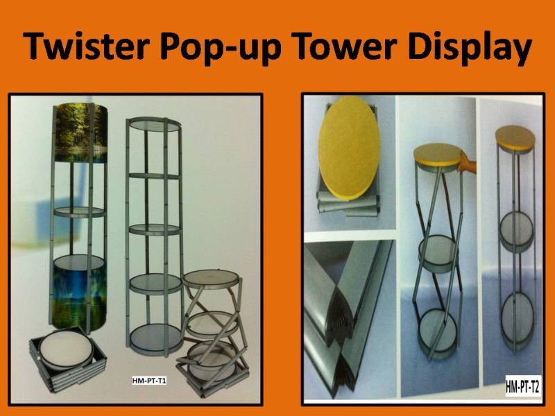 Twister Pop Up Tower/Counter Display