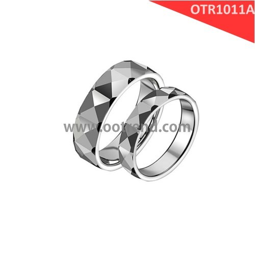 Couple love wedding his and her spikes tungsten jewelry