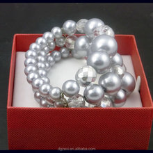 CZX1702222 Chenzhuxi Cheap Items To Sell Christmas Glass Beads Handmade Bracelet