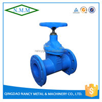 Cast Iron DIN3352 F5 Non-Rising Stem Rubber Wedge Gate Valve, PN10, Z45X-10