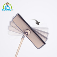 Window cleaning wiper for glass window, rubber sponge flexible rotating window cleaner squeegee