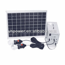 Mini Projects solar power system 12V for home lighting 20W