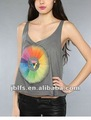 sexy Prismatic Scoop Tank Tops (Sleeveless) for Women