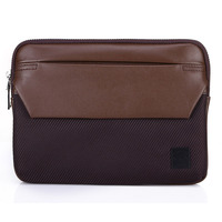 13 inch leather laptop pouch for macbook pro/air, NEPPT notebook briefcase leather tablet PC sleeve for Apple