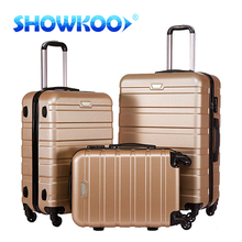 China Factory Newest abs luggage pc hard side lightweight carry-on travel luggage case