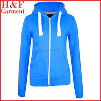 womens slim fit hoodie in plain with hoodie strings for spring