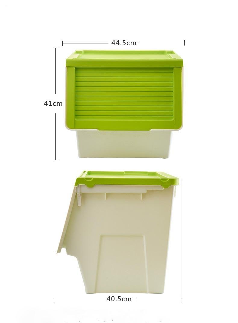 Eco Friendly White Plastic Storage Box Cloth Container