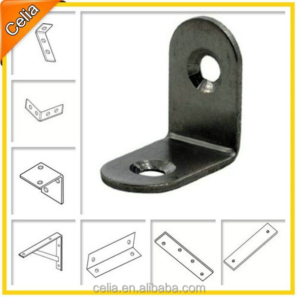 metal furniture angle bracket zinc plated, galvanized/galvanised or powder coated