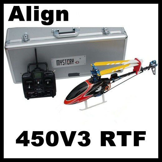 Align Topspeed 450 V3 450 Sport 2.4G 6CH 3D RC Helicopter RTF with AL Case (Align T-rex Compat.) Assembled