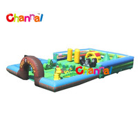 Zoo Mania kids inflatable trampoline jumping play center