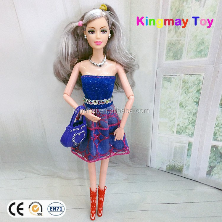 High Quality Plastic Barbiee Doll Fashion Dress Doll
