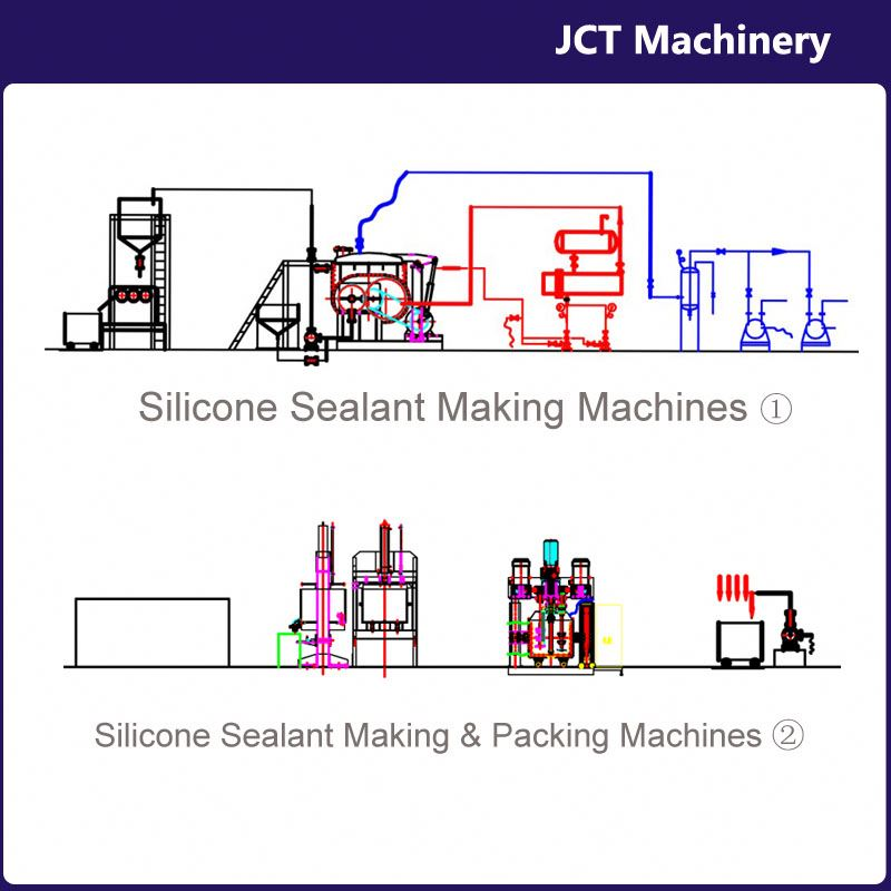 machine for making super strong silicone sealant for concrete joints