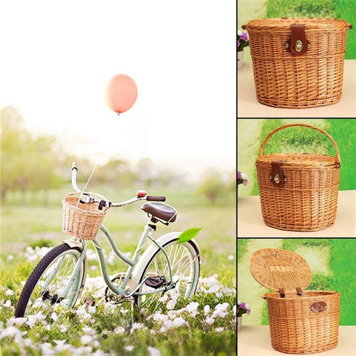 cheap removable bike pet bicycle basket