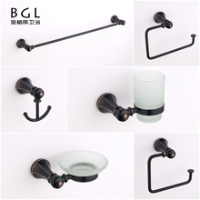 21800 Bathroom Fittings Names Zinc Alloy Material ORB Finish Bathroom Accessories Set