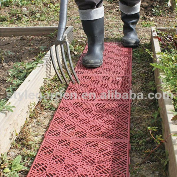 Plastic Garden Patio Path Pavement Tiles