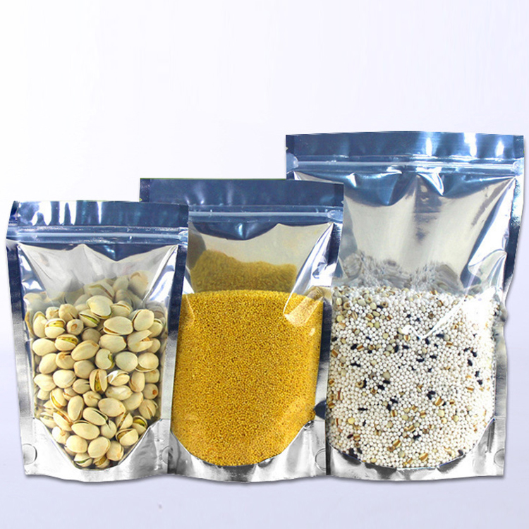 18*26*4CM 1 KG/ 1.5 kg Food <strong>Grain</strong> Capacity Stand Up Foil Bags With Low MOQ