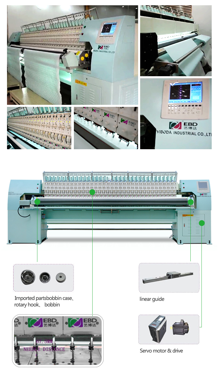 YBD151 High Quality Automatic Multi Head Computer Embroidery Machine