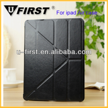 Wholesale factory supply Transformers Style case for iPad 5 case,for iPad 5 leather case PU with plain weave pattern