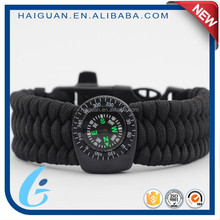 Survival Set Private Label Sports Team Paracord Oem Tactical Bracelet With Compass
