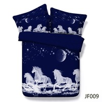 Bed linen Mystical Spirit Horses galloping above the clouds 3d comforter bedding set 3d