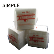 Antistatic White Cleanroom Cellulose/Polyester Nonwoven Wipes