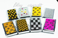 various design thick metal business card holder with colorful Rhinestone