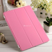 New arrival 2 folded stand leather cover For ipad air smart cover