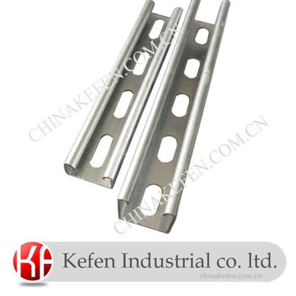 41*21mm HDG slotted U shaped steel channel