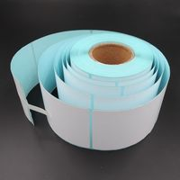 Thermal printer labels stickers self adhesive rolls paper for price tags with barcode sticker pakaging label