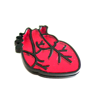 unisex punk heart shape Backpack pin brooch for garment ornaments