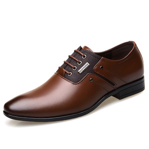 2018 Genuine Leather Official Men Business Dress Shoes with Big size
