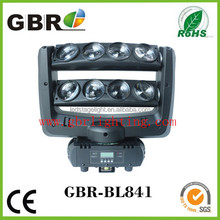 Hot!!!Popular 8*10W RGBW 4IN1 LED Eight-eyes mini LEDS Double Row Moving Head Bar