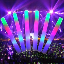 Colorful Battery Operated Led foam glow stick for party