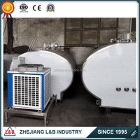 industrial stainless steel fresh milk refrigeration unit, milk tank