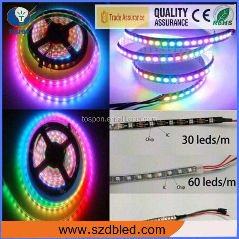 2016 Hot sale! DC12V/24V RGB SMD5050 swimming pool led strip lighting