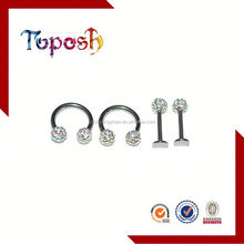 acrylic labret lip rings body piercing jewelry