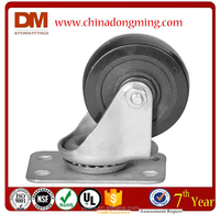 Rubber Fixed Industrial Caster Wheel
