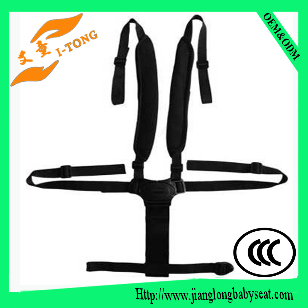 Portable baby highchair seat belt