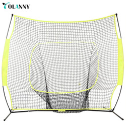 good quality yellow stable rebound baseball batting cage net/baseball practice net