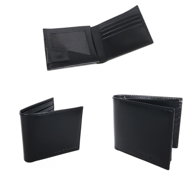 Full Cow Leather Classic Black Color Men's Wallet