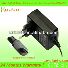 For Acer Iconia Tab A510 A701 A700 Tablet PC Adapters 12V 1.5A Mini USB