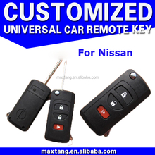 3 Buttons Smart Remote Key Case Shell For New Sunny Tiida With Uncut Key Blade Fob Key Cover