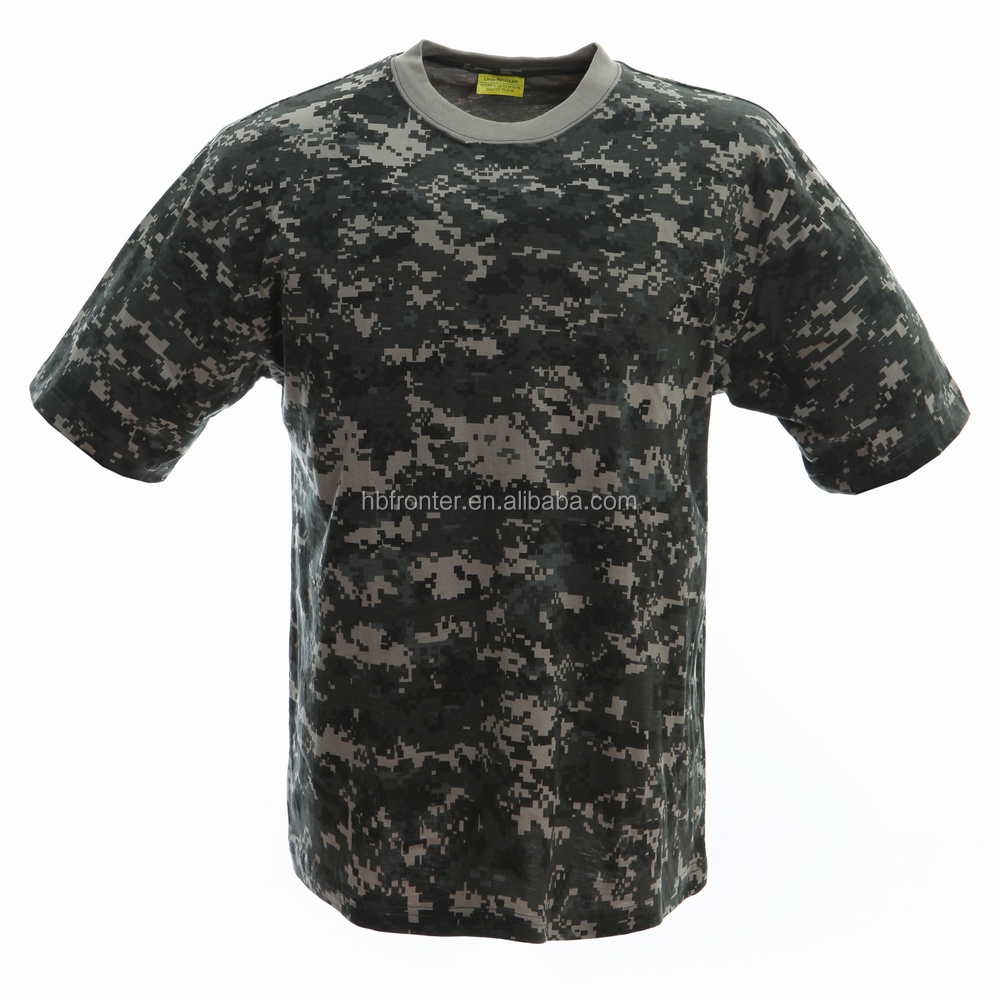 Cotton Made Man's T shirt in Digital Urban Camo Army Military T-shirt