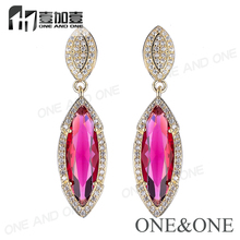 Fashion New Style gold Jewelry, Colorful Stone 18K Gold Plated Earring