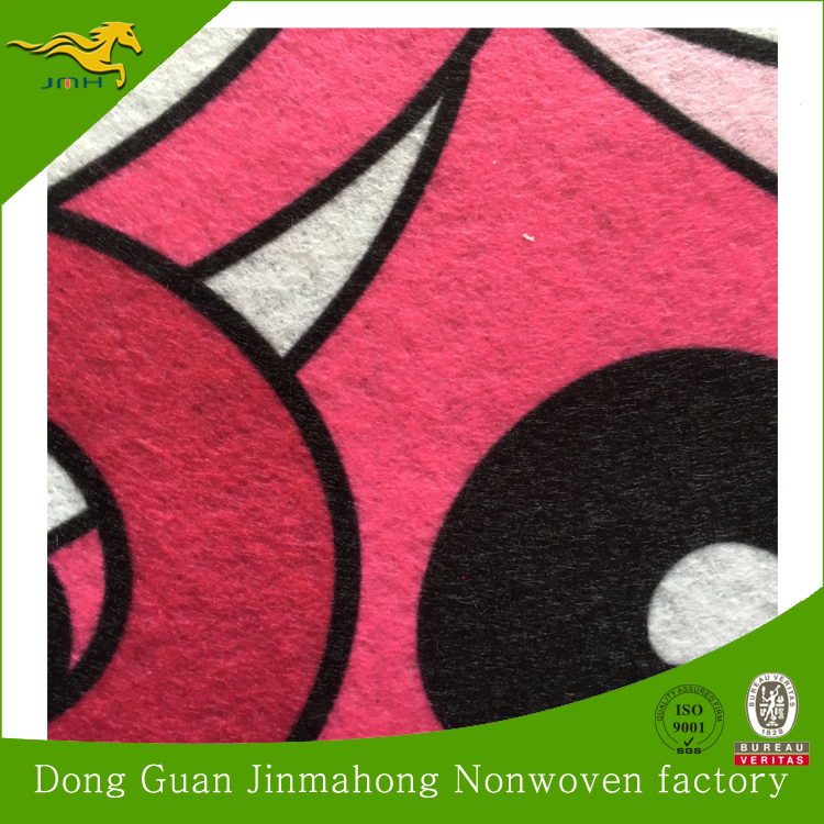 Customized different color needle punched printed nonwoven felt fabric or printing press felt