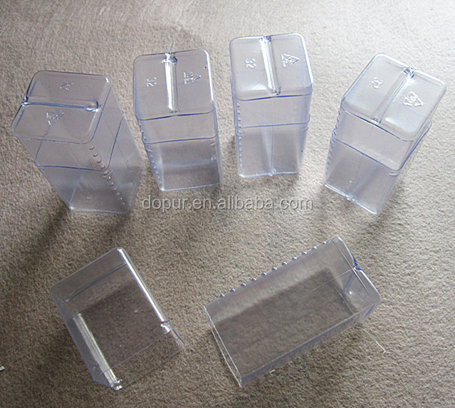 small clear telescopic plastic PVC boxes packing