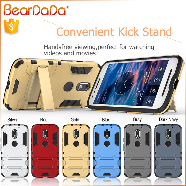 Heavy Duty Shockproof kickstand for moto e mobile cover